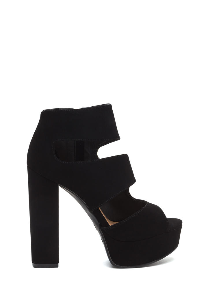 Cut Outta Here Chunky Platform Heels