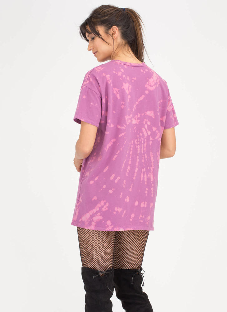 Army Goals Splatter-Dyed Shirt Dress MAUVE