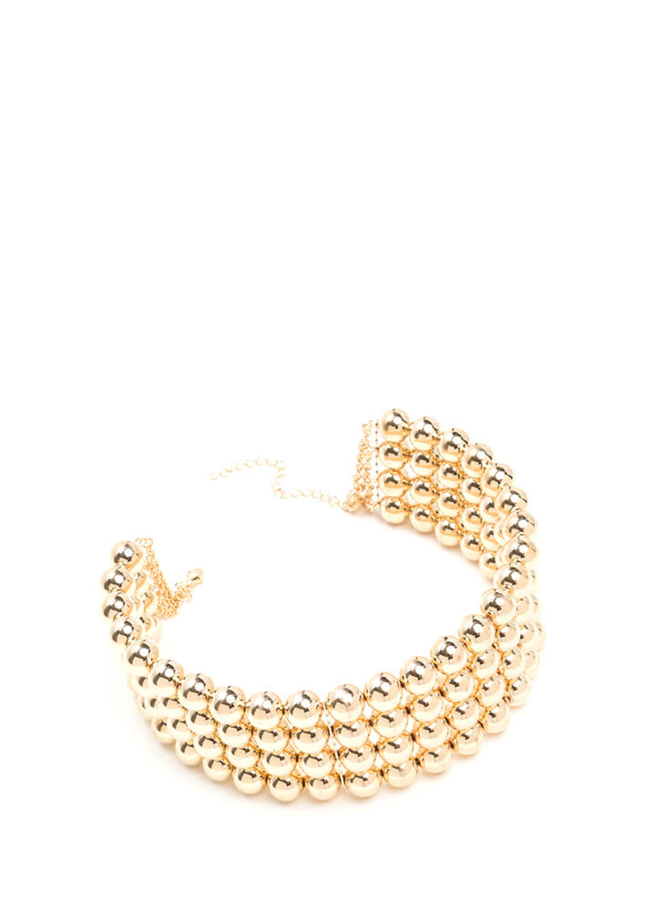 Catwalk Fresh Metallic Bead Choker