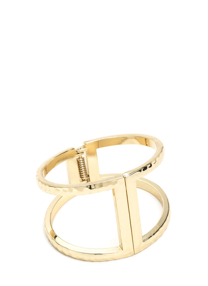 Minimalistic Chic Cut-Out Bracelet
