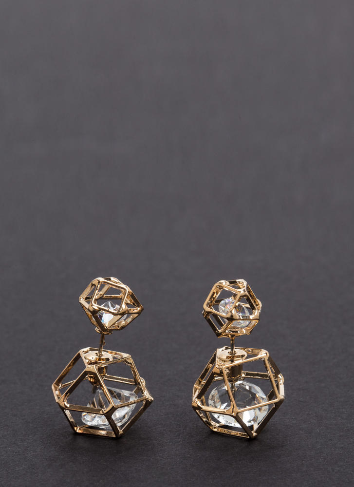 Let's Geo Jeweled Backdrop Earrings