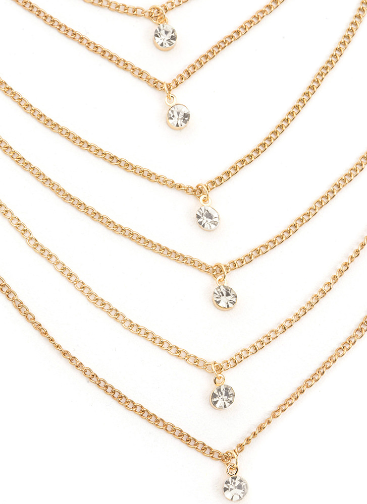 Front And Center Layered Chain Necklace GOLD