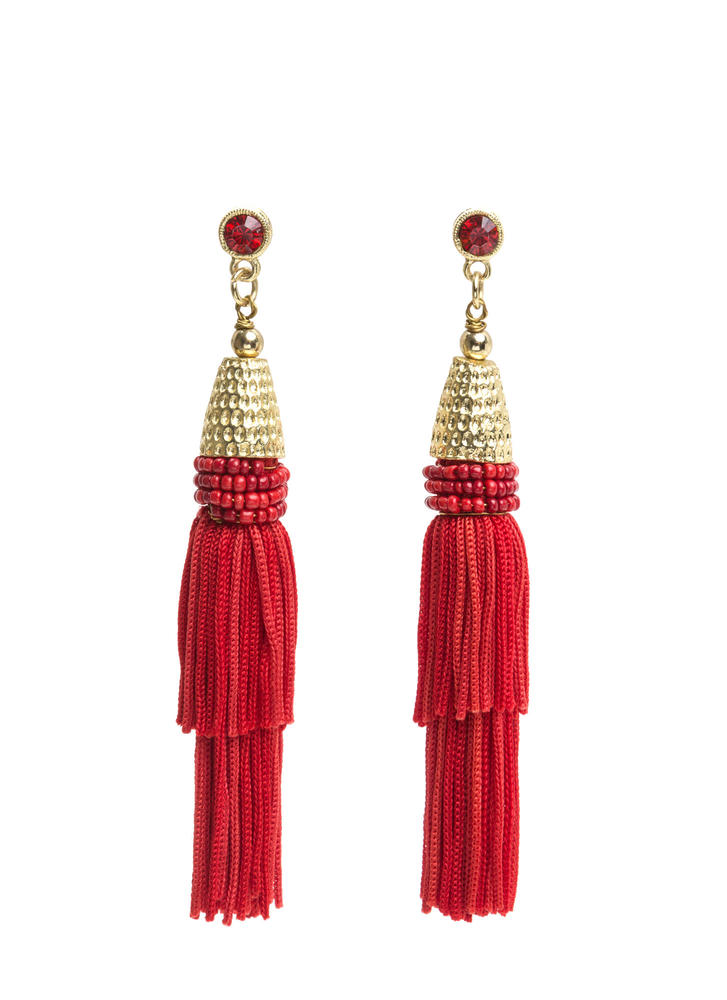 Fabulous Boho Beaded Tassel Earrings