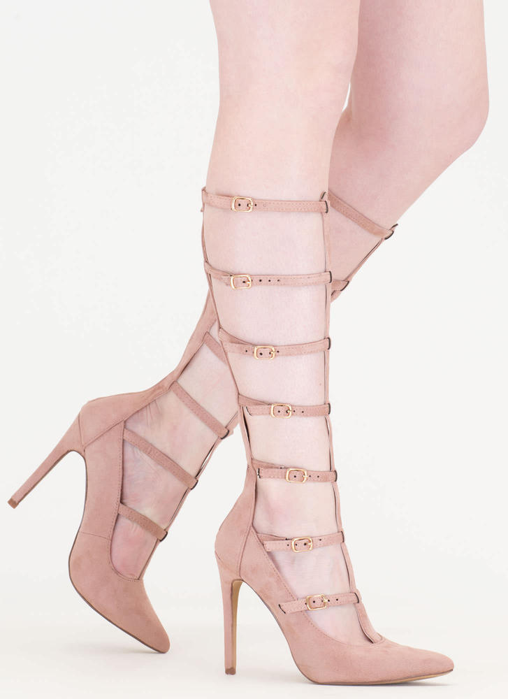 Treasured Gift Caged Gladiator Heels