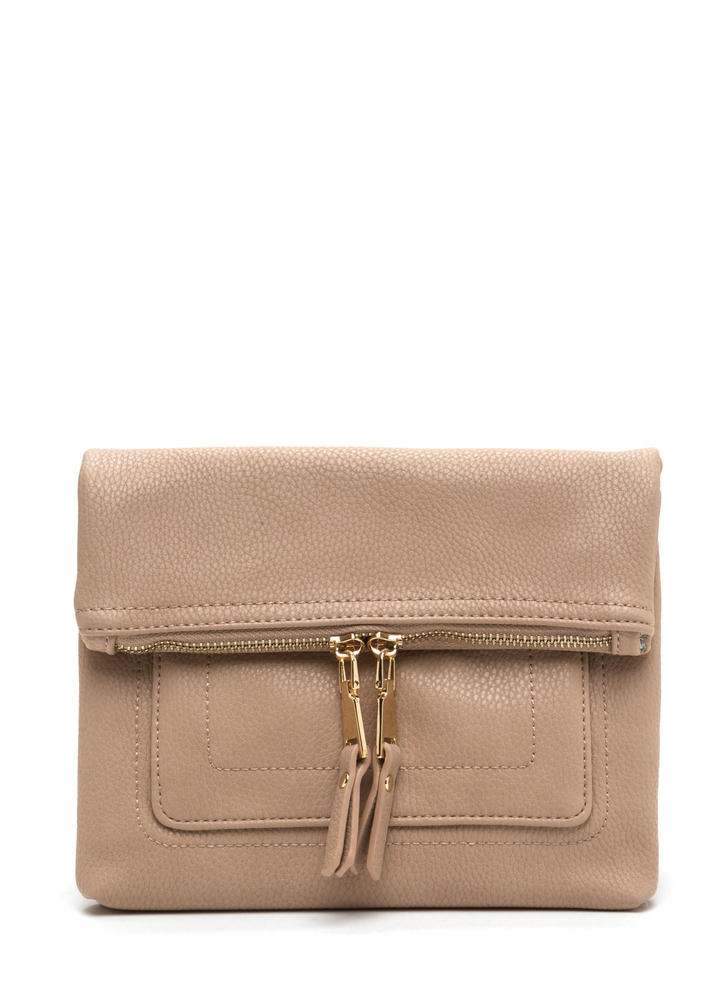 Forever Fave Faux Leather Crossbody Bag