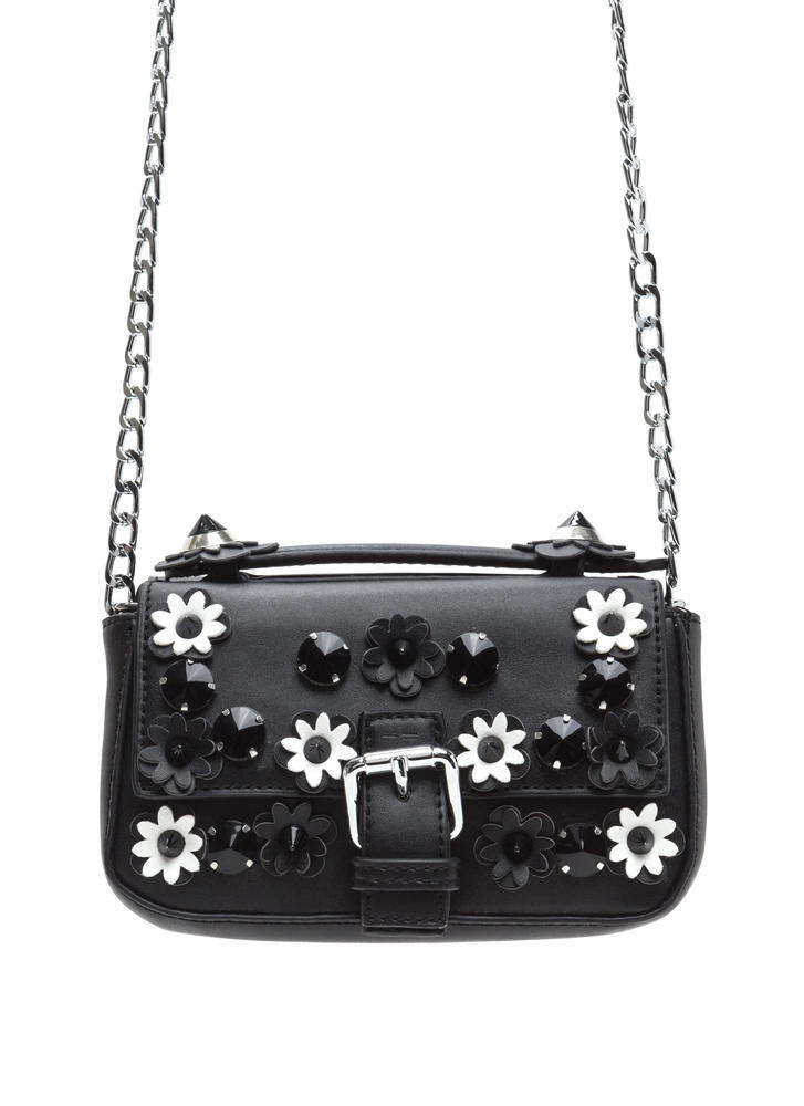 Daisy Chain Studded Faux Leather Bag