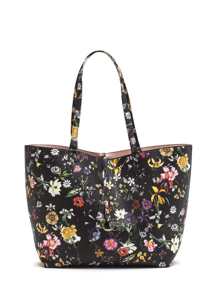 Balance Of Flower Reversible Tote Set