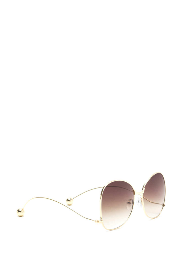 Quiet On Set Oversized Sunglasses BROWNGOLD