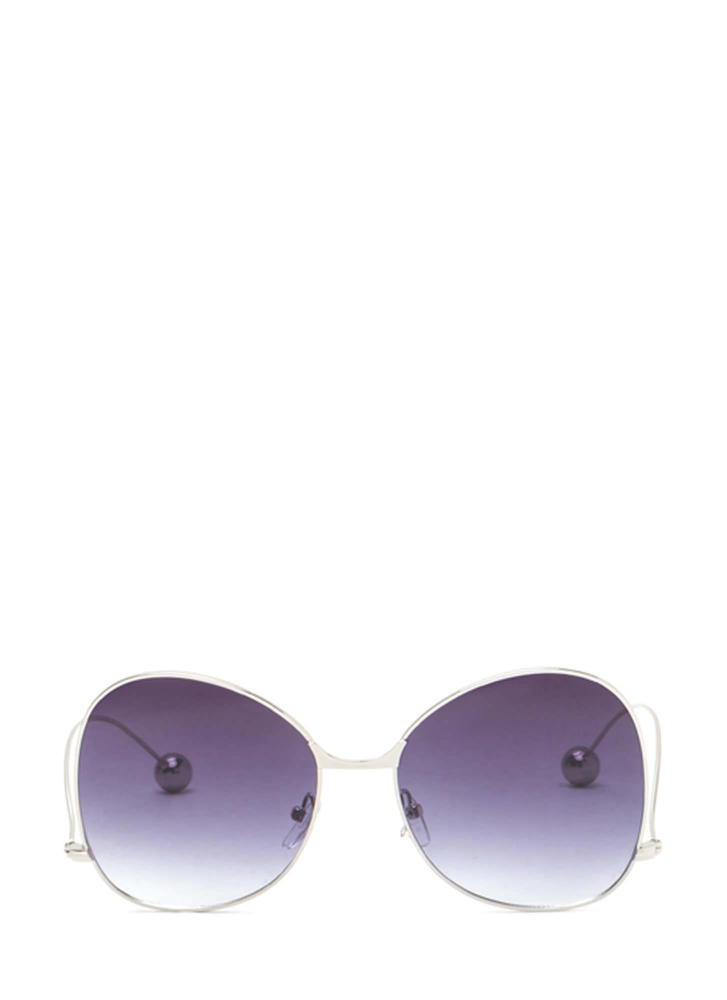 Quiet On Set Oversized Sunglasses GREYSILVER