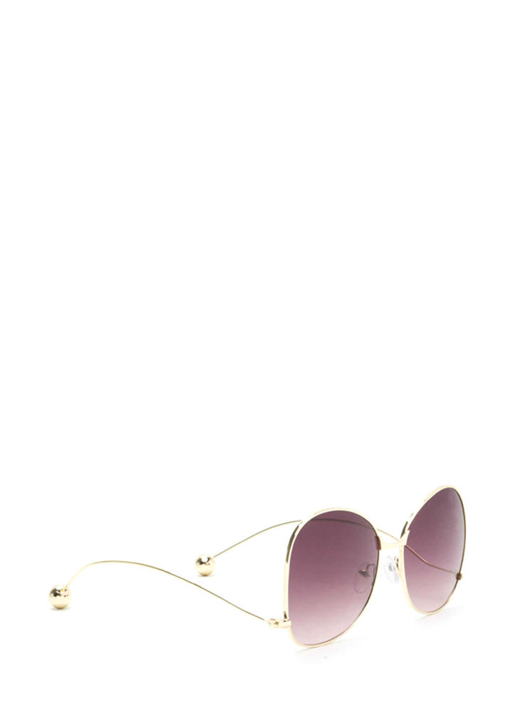 Quiet On Set Oversized Sunglasses PURPLEGOLD