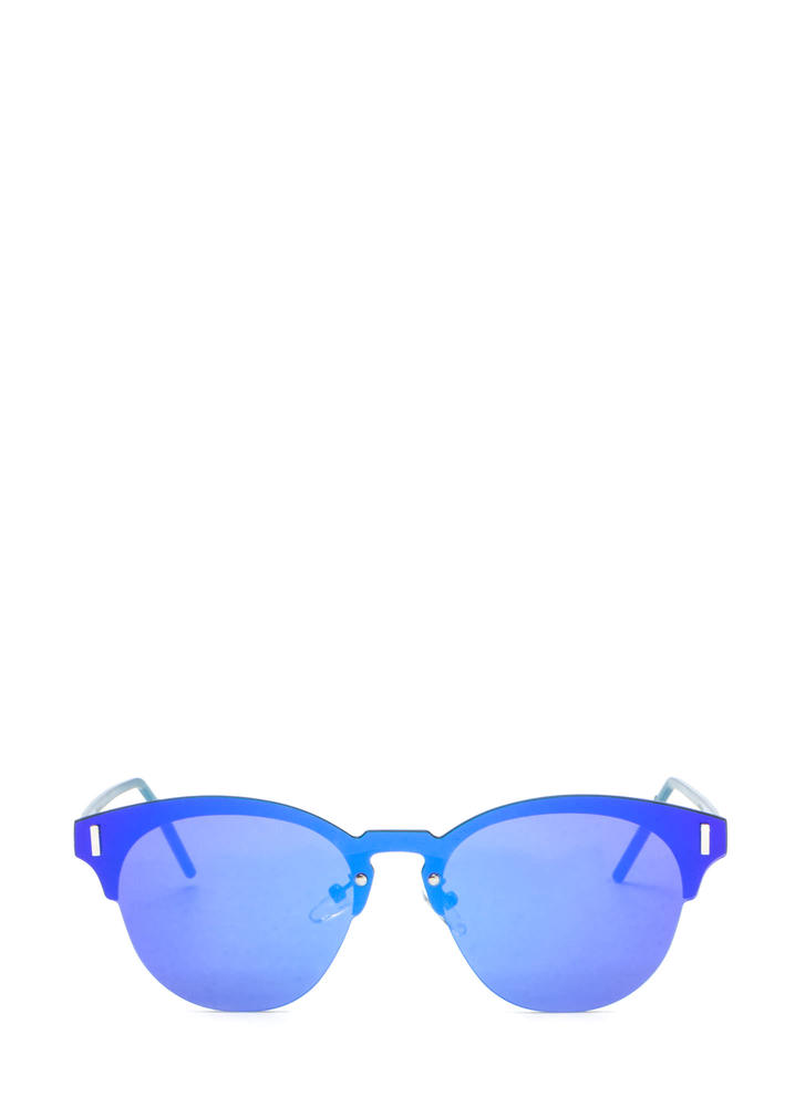 Fresh Perspective Mirrored Sunglasses BLUE