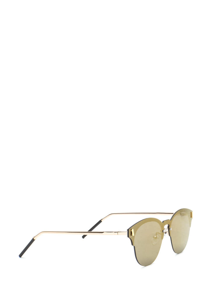 Fresh Perspective Mirrored Sunglasses OLIVE