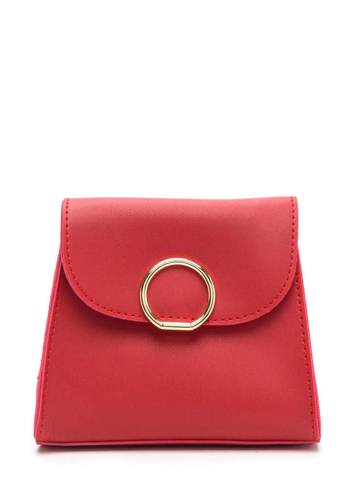 Ring Me Up Faux Leather Crossbody Bag