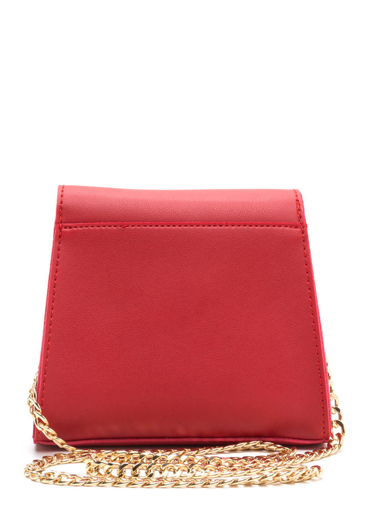 Ring Me Up Faux Leather Crossbody Bag RED
