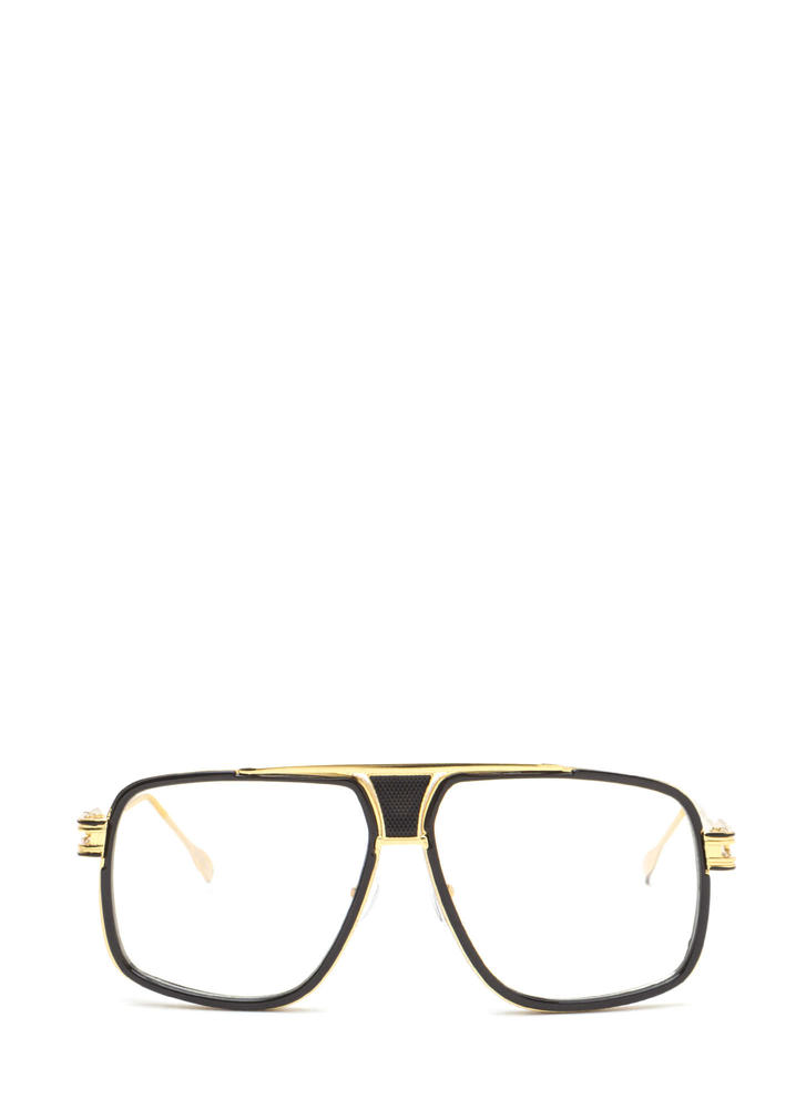 Retro Style Queen Oversized Glasses BLACKGOLD