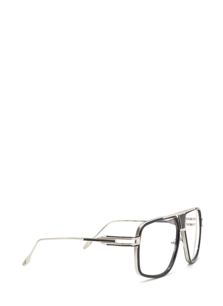 Retro Style Queen Oversized Glasses BLACKSILVER