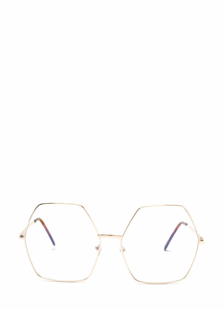Hex Appeal Oversized Glasses