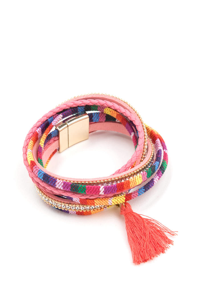 Fashion Squad Tasseled Woven Bracelet