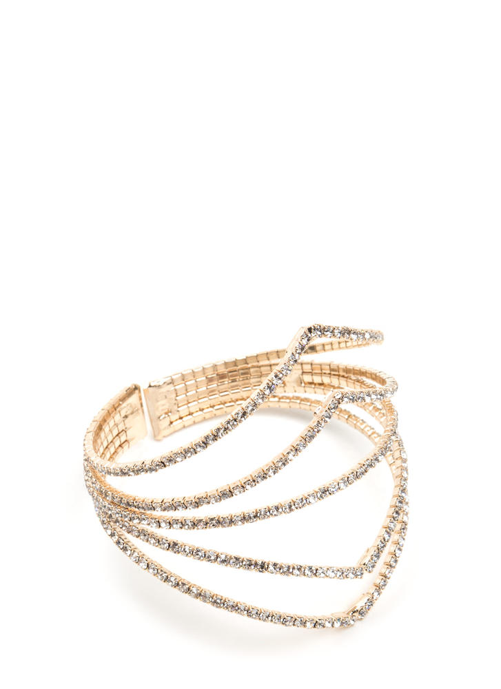Beautiful Evening Sparkly Caged Bracelet