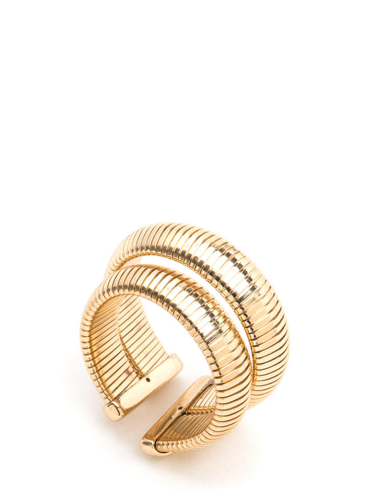 Double Or Nothing Chain Cuff GOLD
