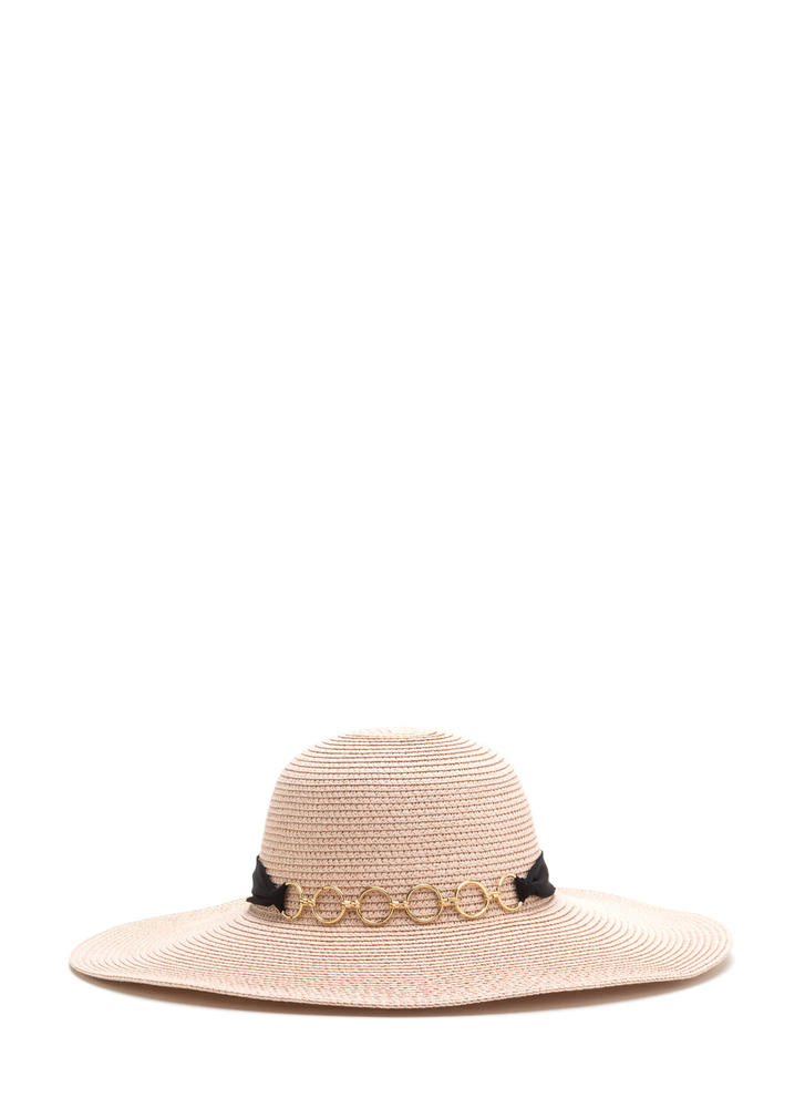 Ribbons 'N Rings Woven Sun Hat PINK