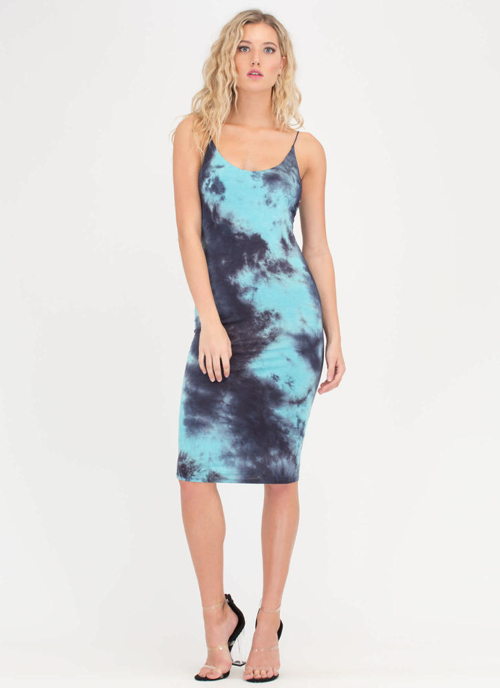 Turn The Tie-Dye Bodycon Midi Dress