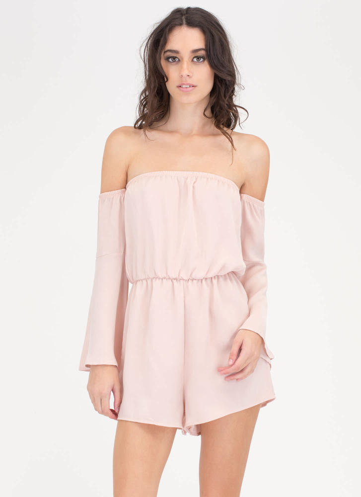 Get Some Sun Off-Shoulder Romper