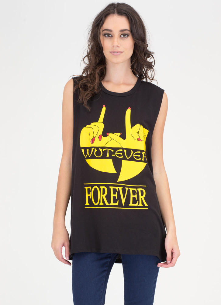 Wut-ever Forever Graphic Muscle Tank