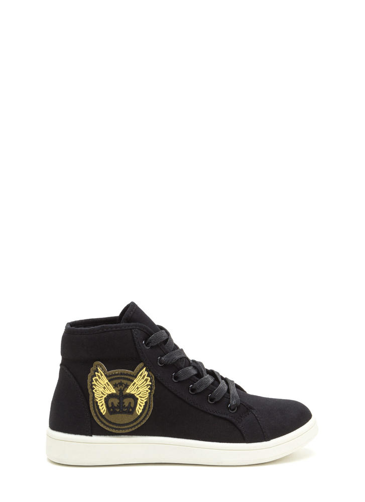 Flying High-Top Patch Sneakers