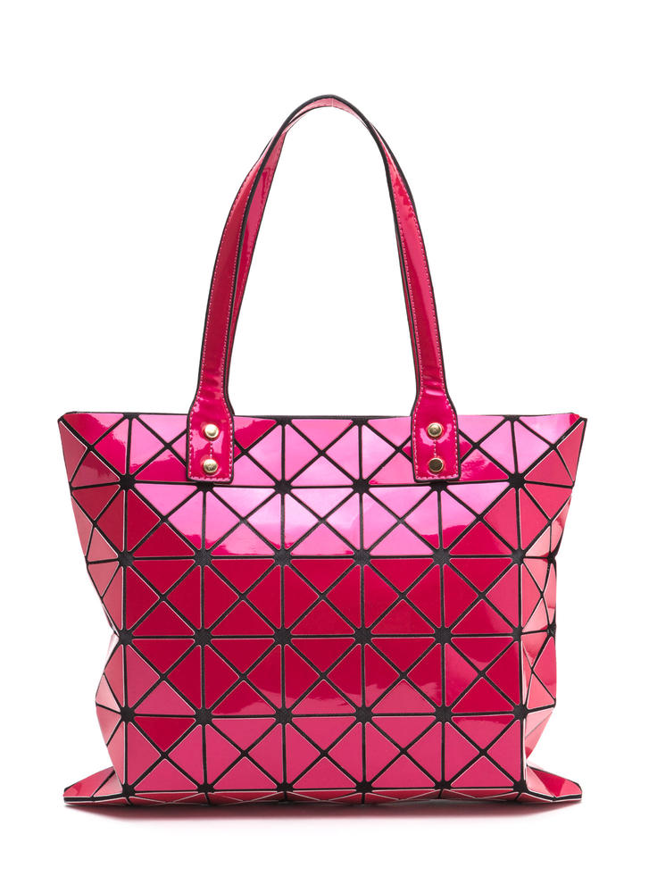 Shape Shifter Paneled Tote Bag
