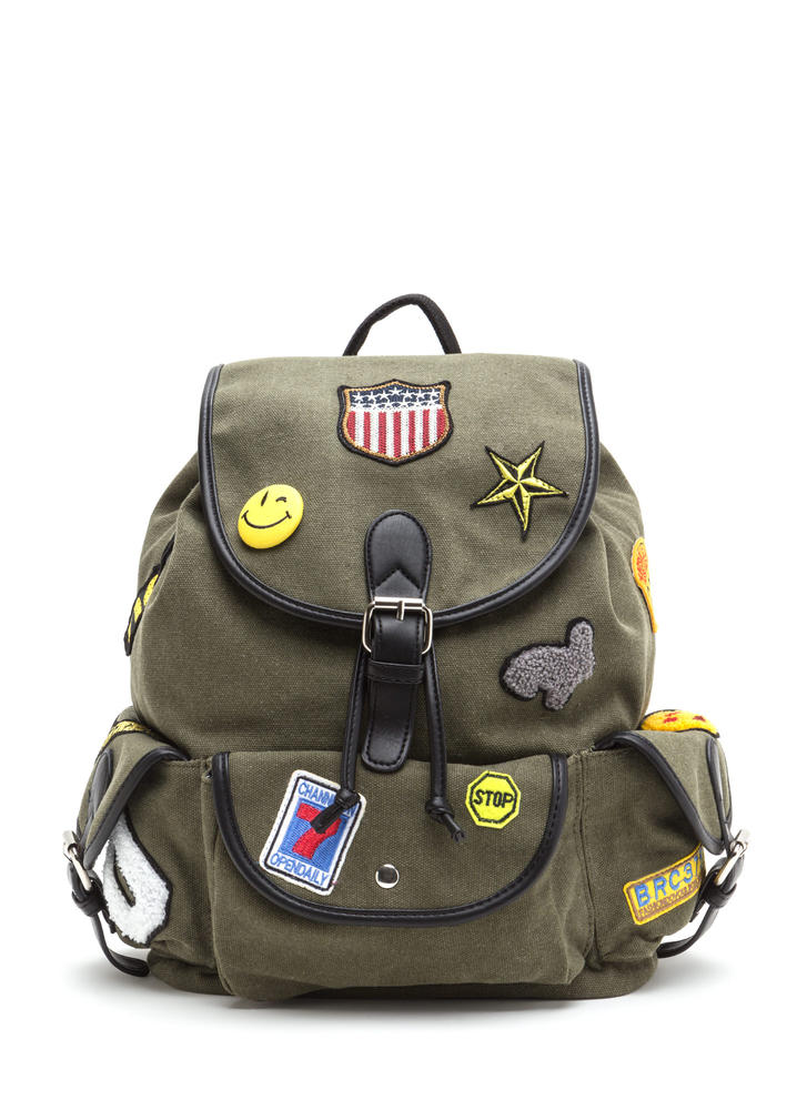 Road Tripper Patch Canvas Backpack