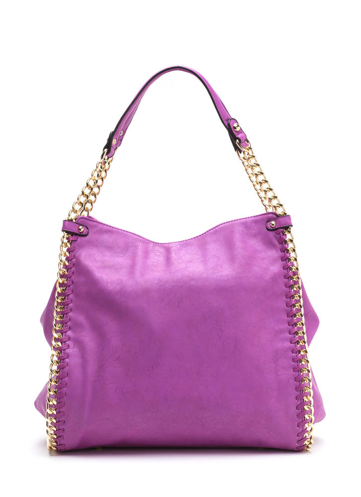Chain Gang Faux Leather Tote Bag
