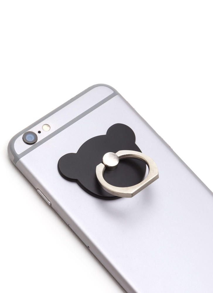 Can You Bear It Ring Phone Accessory BLACK