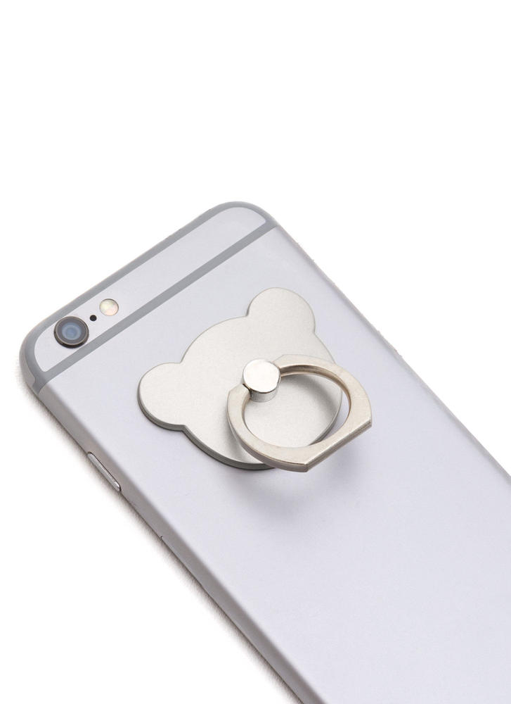 Can You Bear It Ring Phone Accessory SILVER