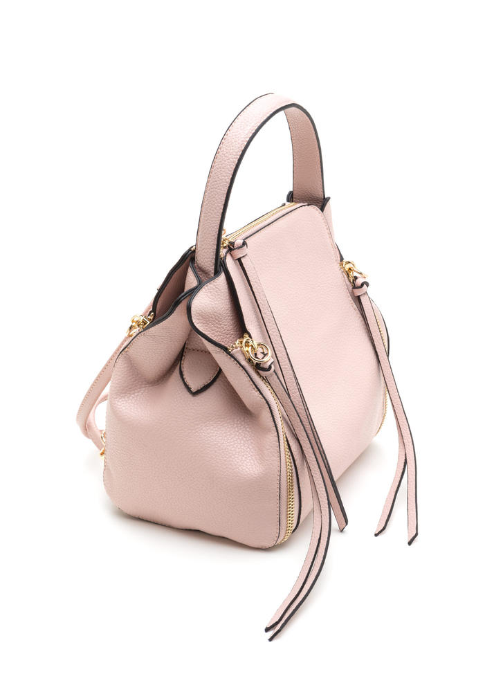 Seize The Day Faux Leather Backpack PINK