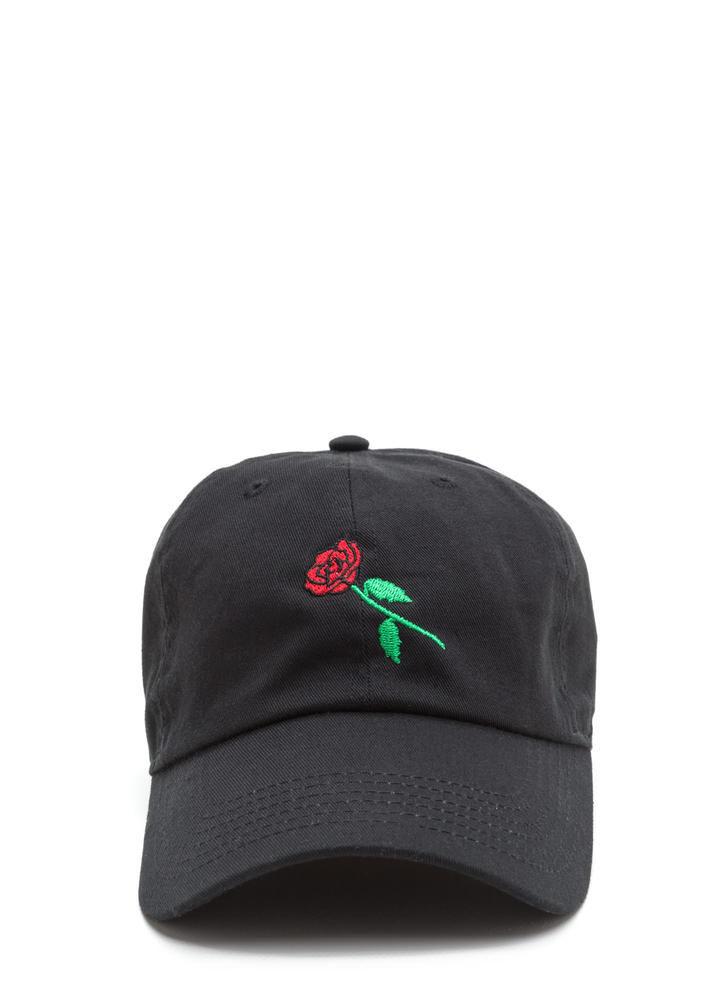 Rose By Any Other Name Denim Cap BLACK