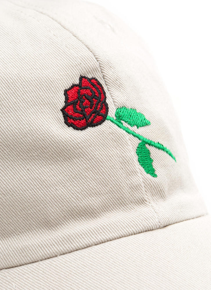 Rose By Any Other Name Denim Cap KHAKI