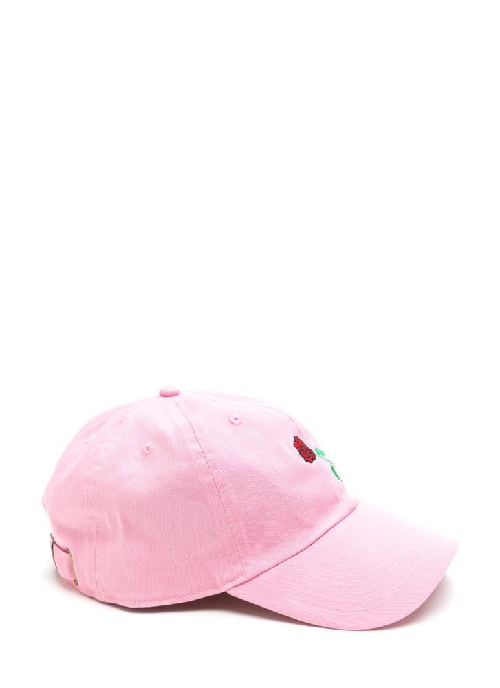 Rose By Any Other Name Denim Cap PINK