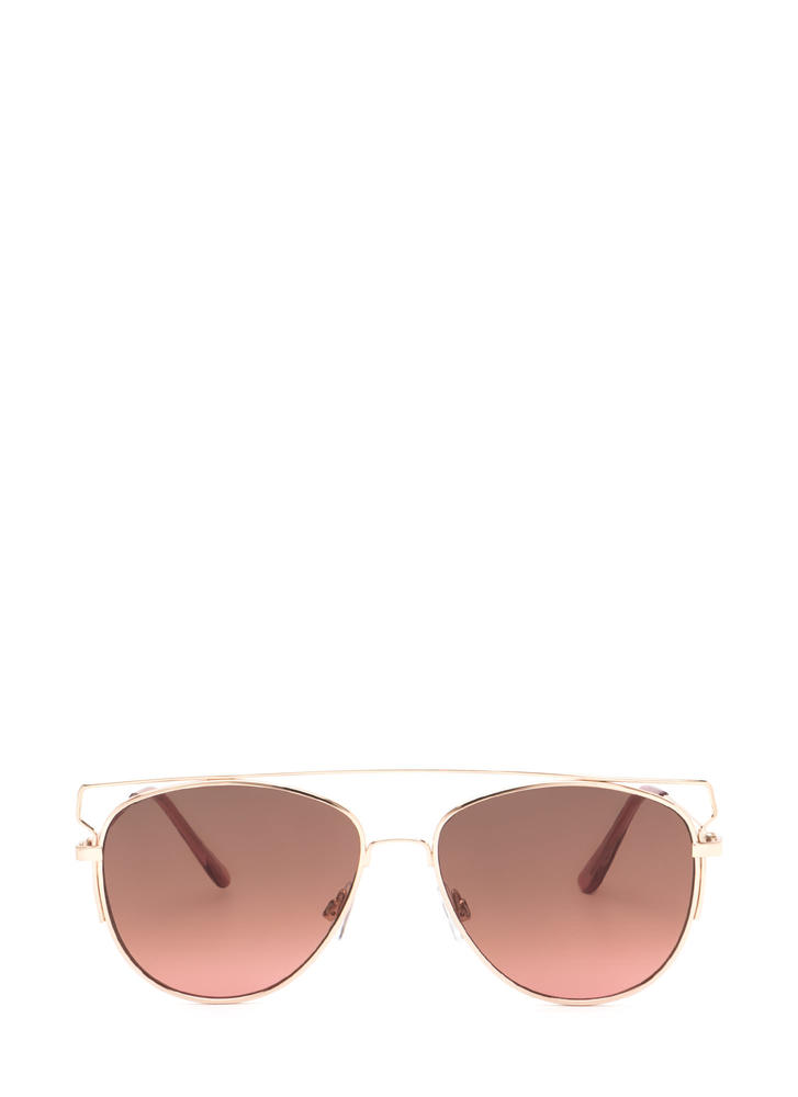 Box Me In Framed Aviator Sunglasses
