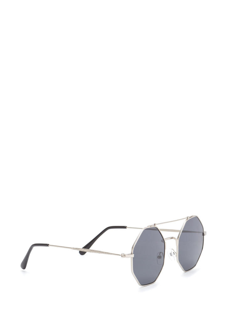Eight Days A Week Brow Bar Sunglasses BLACKSILVER