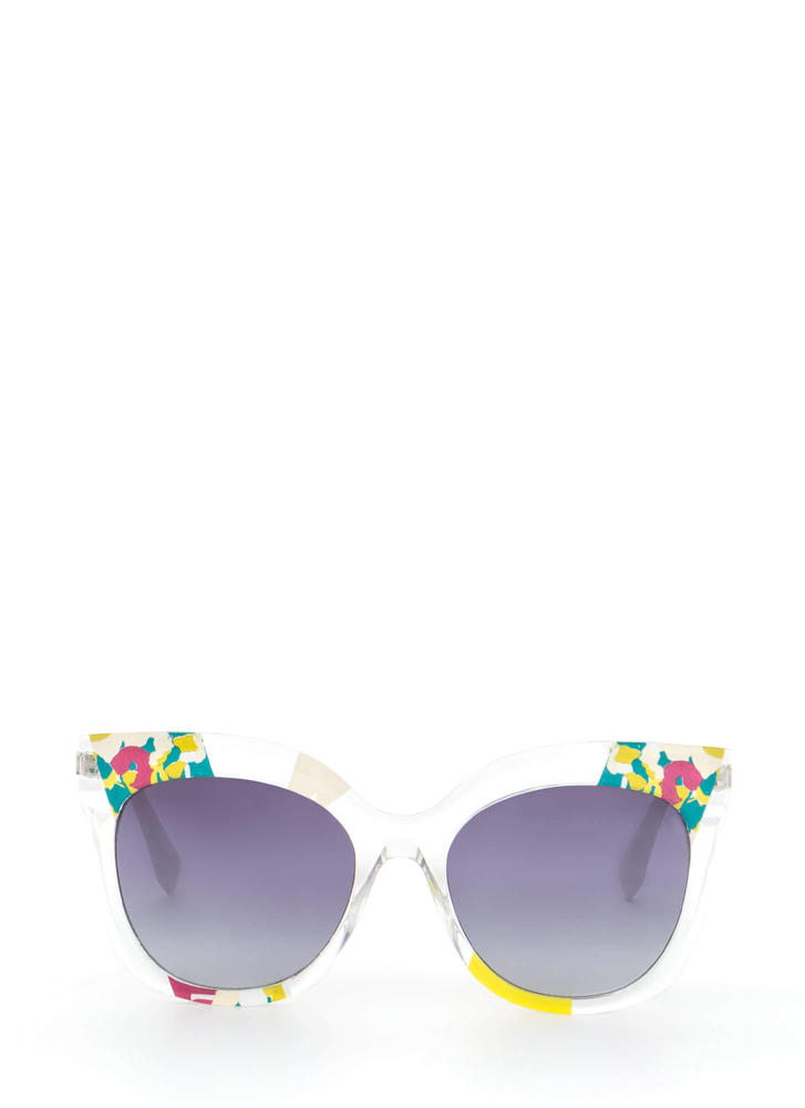 See It All Abstract Floral Sunglasses