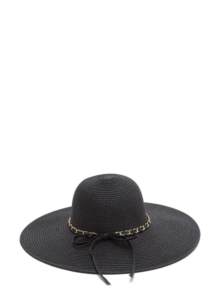 Chain Of Pace Woven Sun Hat BLACK
