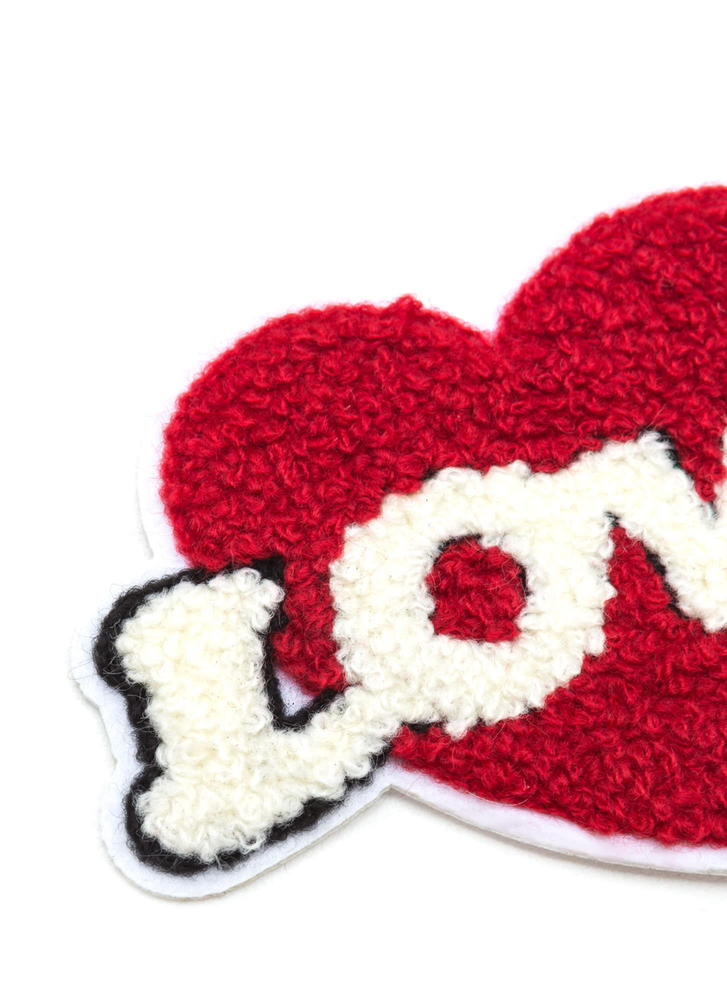 Love On The Brain Heart Patch RED