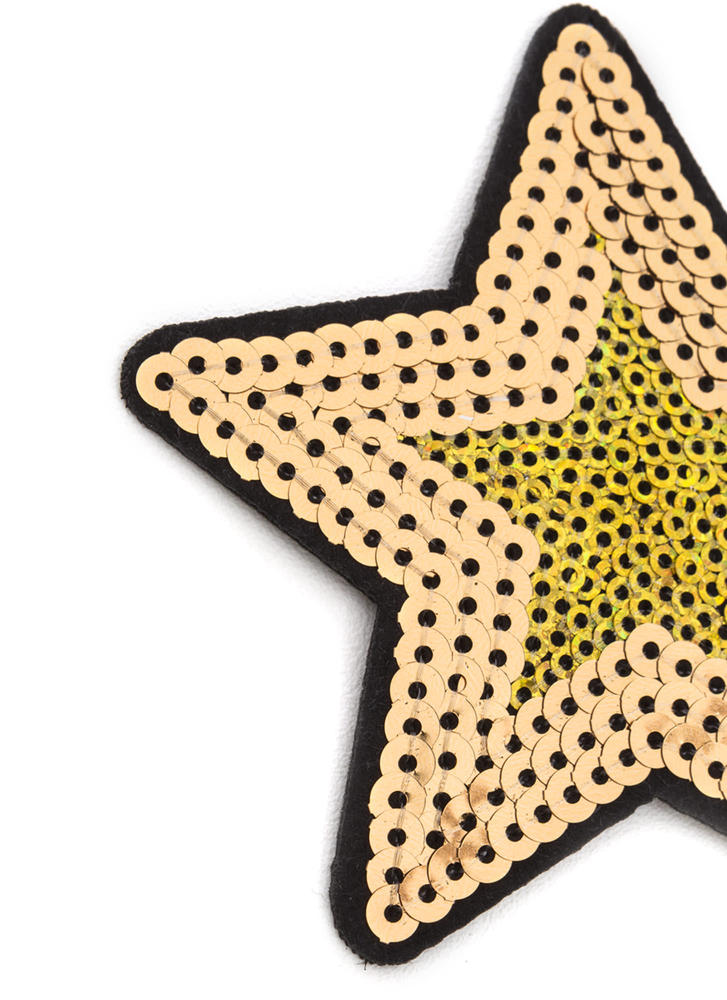 Star Quality Sequined Patch GOLD