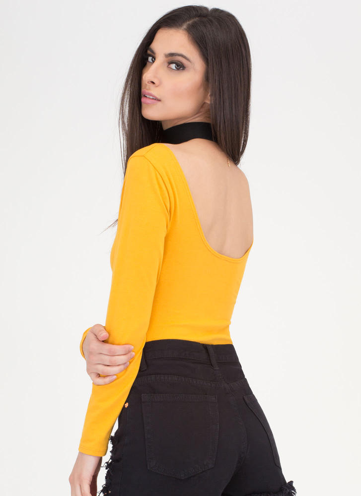 Wide Or Why Not Thong Bodysuit MUSTARD