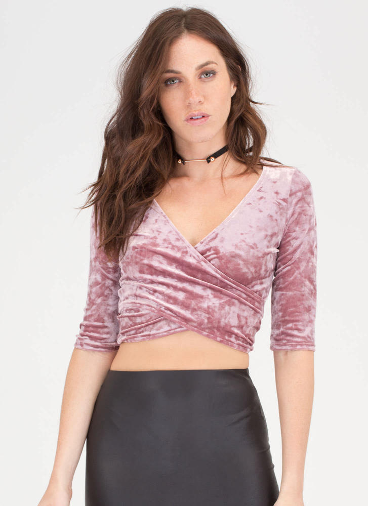 c24da201b7219 Crushed it velvet wide neck crop top grey ivory mauve jpg 727x1000 Velvet crop  top