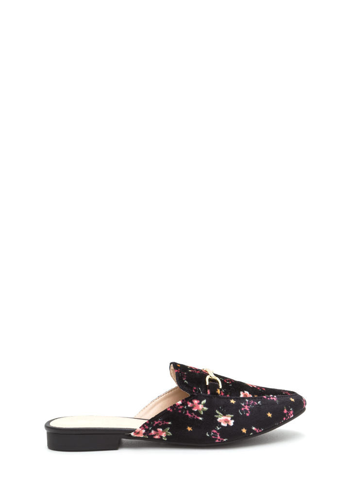 Oh Chic Velvet Slip-On Smoking Flats