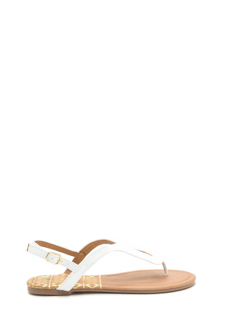 Loop Dreams Faux Leather Sandals WHITE