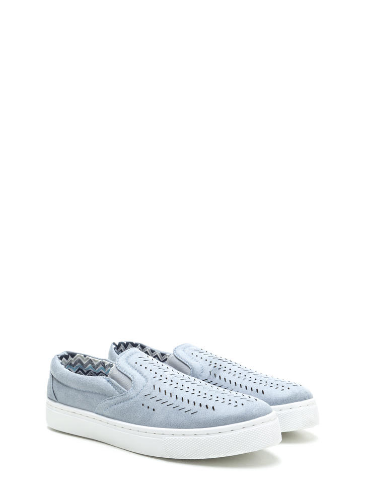 Slits All Good Faux Leather Sneakers ASHBLUE