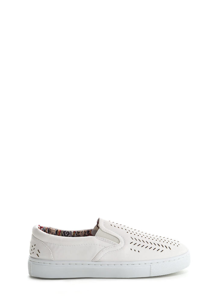 Slits All Good Faux Leather Sneakers WHITE